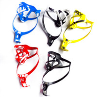 Wholesale 2pcs Carbon Fibre Bicycle Bottle Cage Bike Water Bottle Holder Bicycle accessories Ultra llight g Yellow Black White Red Blue
