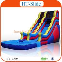 Wholesale 2016 High Quality Giant Inflatable Slide inflatable Water Slide With Pool Inflatable Water Park Slide