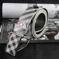 belt buckles for men uk - Retail pc Uk chequer men and women business Casual Belt alloy flat smooth buckle fashionwaist belt for women