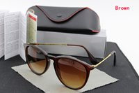 Wholesale Fashion women s Men s Erika Pilot Sunglasses Designer Square Solstice SunGlass colors box card case