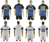 Wholesale 16 Serie A Inter Milan jerseys home away Uniforms jersey football jerseys soccer Uniforms Customized fans jerseys mixed DHL