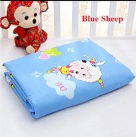Wholesale Blue sheep cartoon design diapering pads changing covers cm waterproof sheet cover resuable diaper newborn baby changing table mat