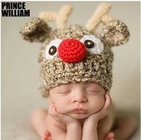 beanie babies online - Newborn Baby Girl Boy Crochet Knit Beanie Costume Photo Photography Prop Cap Hat Hair Accessories Online Sale