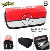 Wholesale Poke Pencil Bags Pikachu Pokémon Designs Halloween Christmas Gifts E PACKET Hot Sale