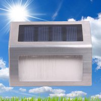 Wholesale Wireless Solar Power LED Waterproof Ourdoor Garden Yard Decoration Stairway Pathway Path Solar Wall Step Stair Deck Light Lamp Kit Night