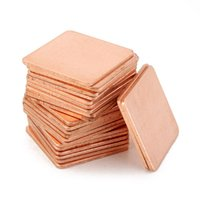 Wholesale 100pcs x x mm Pure Copper Cooling Plate Thermal Conductivity Copper Weight g Can be applied to Graphics Cards