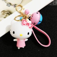 animal keychains china - 2016 Direct Selling Lover Keychains Offer Promotion Rubber Boys Good Quality China Contrast Color Bell kt for Keychain d Cartoon Keyrings