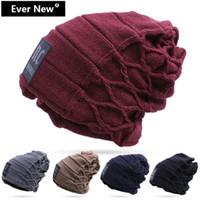 Wholesale Hot Sale Pure Color Winter Cap Brand Beanies Knit Men Winter Hat Cap Skullies Beanies Warm Cap For Men Women Warm Casual Hat