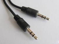 Wholesale mm pin to mm pin stero audio cable Headphone Jack Black color