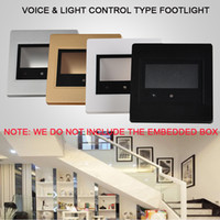 Wholesale 185 V Wall Plinth Stairs Light W Voice Light Control Sensor Hallway Walkway LED Footlight Bar Aisle Lamps