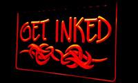 banner tattoos - LS129 r GET INKED Tattoo Piercing Shop Banner Shop Sign jpg