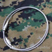 Wholesale 200pc Money supply increased exposure bold stainless steel wire rope keychain EDC key quickdraw ring single price