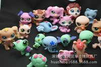 petits magasins d'animaux gratuits achat en gros de-24pcs / bag Littlest Pet Shop Q LPS-Littlest Shop Mini Series Pet Doll Toy Hollow Hand Ornaments Livraison gratuite WD332