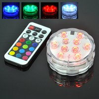 aquarium decorating - 2016 New Waterproof RGB LED Light Aquarium Underwater Lights Remote Control Can Decorate Fish House Home Vase