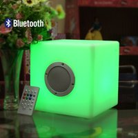 Wholesale Color changing Cube blue tooth speakers
