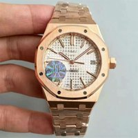 Wholesale AAUDEMARS PPIGUET Royal Oak Silver Dial Automatic PVD Yellow Gold Men s Watch