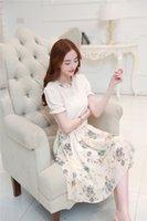Wholesale 2016 summer women dress chiffon fashion lady style print dress Dress new style split joint dress