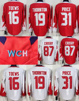 Wholesale Crosby World Cup Team Olympic Hockey Jerseys jonathan toews Carey Price Steven Stamkos Joe Thornton