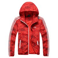 Wholesale Spring Hooded Jacket Mens - High Quality 2016 Mens Spring Sport Running Jacket Famous Brand Thin Casual Outdoor Men Camouflage Windbreaker Fringe Jacket