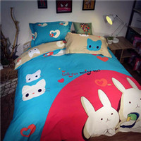 baby washing machines - DY sl Animal Style Bedding Sets Rabbit And Cat Cartoon For Children Novel Style First class Quality
