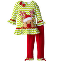 baby birthday boutique - Christmas Birthday Outfits For Baby Girl PC Set Clothes New Arrival Children Skirt Ruffle T Shirt Top Legging Pant Suit Boutique Clothing