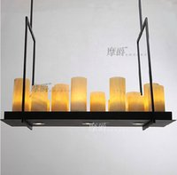 Wholesale Modern American High Quality Altar Candles Pendant Lamps Kevin French Annular Altar Candle Shape Marble Pendant Lights