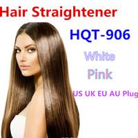 Wholesale 2016 HQT Hair Straightener Flat Iron Hair irons fast Straightening Brush Hair Styling comb Beautiful Star pink white US EU UK AU Plug
