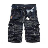 Wholesale Summer Men s Cotton Washed Multi Pockets Camouflage Military Cargo Shorts Work Pocket Camo Shorts Casual Cargo Shorts