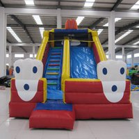 > 3 years old animal play equipment - Fun equipment meters amusement park inflatable slide hot sale home yard trampoline slide for kid