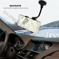 Wholesale Durable Long Arm Universal Windshield Dashboard Cell Phone Car Holder with Strong Suction Cup and X Clamp for Iphone Samsung etc