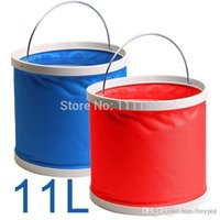 Wholesale 11L Folding Bucket Car Wash Car Bucket Outdoor Portable Fishing Bucket Washing Bucket Retractable Car Wash Canvas Supplies xx