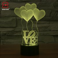 Wholesale 2016 Fashion U987 Stylish Colorful D Wireframe LED Lamp Magic Night Love Bed Light Touch Table Lamp Best Christmas Handcraft Gift