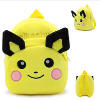 Wholesale Kids backpacks poke pikachu backpack for children girl boy schoolbags plush bags girls boys stuff dolls bag children christmas Pokémon gifts