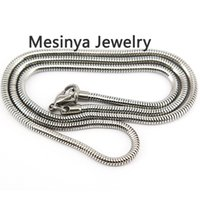 Wholesale round mm snake style L stainless steel chain necklace inch cm for glass locket essential oils diffuser locket