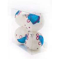 baubles and beads - 8CM Christmas Ball Matt s And Patterned Finished Balls Plastic Bead Bauble For Christmas Decoration Wedding Party Product Code
