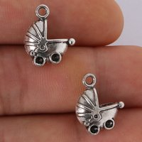 antique baby carriages - Fashion hot x14mm Antique silver plating Baby carriage Charms Pendant jewelry findings for DIY