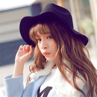 Wholesale New Arrivals Best Sales Fashion Vintage Women Ladies Floppy Wide Brim Stingy Brim Hats Wool Felt Fedora Cloche Hats Cap PX42