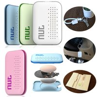Wholesale 2016 New Arrival Nut mini Smart Tag Bluetooth Tracker Child Bag Wallet Key Finder for iOS for Android Locator Alarm Colors