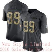 america wear - Hotsale Limited Texans J J Watt Black Admiral Salute To Service Stitched Embroidery Logos Brand America Football Jerseys Wears