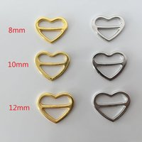 alloy adjuster - Bra alloy heart shape sliders strap adjuster