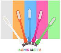 Wholesale USB LED Lamp Light Portable Flexible Led Lamp for Notebook Laptop Tablet PC USB Power Bank Computer Small Night Light DHL AAA