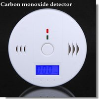 Wholesale Factory Supply CO Carbon Monoxide Poisoning Gas Sensor Smoke Alarm Detector Alarm Detector Tester LCD with Retail Box Via DHL Fedex