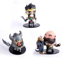 action hands - League of Legends LOL Q version doll BRAUM DRAVEN TRYNDAMERE hand model Boxed PVC Action Figure Collection Model Toy