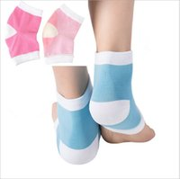 Wholesale 2 Colors Gel Heel Socks Moisturing Spa Gel Socks feet care Cracked Foot Dry Hard Skin Protector