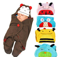 Wholesale Newborn Baby Sleeping Bags Cashmere Fabric Winter Receiving Blanket Toddler Envelope Designs Wrap Clothing