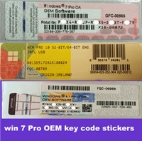 Cheap 2016 brand new win10 8.1 7 pro OEM key code stickers 32bit and 64 bit Online activation 100% work