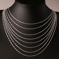 Wholesale 1pcs Fashion Female Elegant Silver Plated mm Water Wave Ripple Chain Necklace Diy Jewelry Gifts
