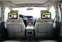 2x soporte de dvd del coche de 9 pulgadas / dvd activo, USB, SD, FM, IR, juego, teledirigido, lengua de OSD, sistema de pesos americano, panel digital