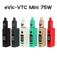Cheap Perfect Clone Joyetech eVic VTC Mini 75w kits electronic cigarettes with Cubis Kit Firmware Upgradeable 75W Box Mod Cubis Atomizer vaporizer