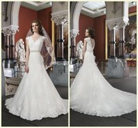 basque belt - 2016 Spring White V Neckline Applique Capped Sleeve Backless A line Chapel Train Applique Crystal Belt Lace Church Wedding Dress